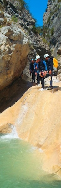 canyoning vers nice
